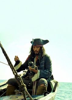 Captain Jack Sparrow on his way to the Fountain of Youth.  Well, rum first, but then the fountain.