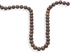 .925 Sterling Silver Chocolate Cultured Freshwater Pearl Knotted Necklace from Blue Bangle