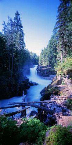 Silver Falls Trail, Mount Rainier National Park, Washington State.