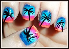 Southern Sister Polish: Take me to the beach! Nail Art Wednesday