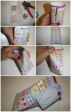 DIY boîte cadeau berlingot