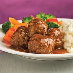 Meatballs with Mustard and Honey Beef – Weekend Meals – Recipe – Recipe - Home Page Meatball Recipes, Beef Recipes, Cooking Recipes, Confort Food, Tasty Meatballs, How To Cook Beef, Fish And Meat, Albondigas, Healthy Dessert Recipes