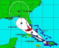 Tropical Storm Isaac: hurricane warnings issued for Florida