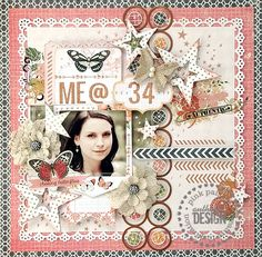 Got Sketch layout, using Pink Paislee - Cottage Farms, Hope Chest and Luxe collections, created by DT member Karola Witczak.
