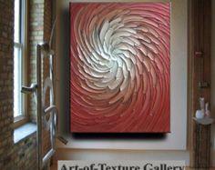 Abstracto pintura 40 x 40 gran Original textura por artoftexture