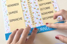 Calendrier Diy, School Organisation, Teaching French, Fabric, Kids, Centre, Image, Perpetual Calendar, Preschool Printables
