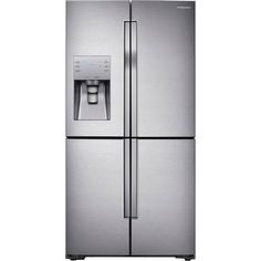 Samsung Flexzone Ft Counter-Depth French Door Refrigerator With Ice Maker (Stainless Steel) Energy Star 4 Door Refrigerator, Counter Depth Refrigerator, Stainless Steel Refrigerator, American Fridge Freezers, American Style Fridge Freezer, Led, Frost Free, Stainless Steel Counters, Water Dispenser