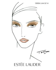 Make-up chart for Derek Lam SS 2014 http://www.vogue.fr/beaute/en-coulisses/diaporama/en-backstage-du-defile-derek-lam-printemps-ete-2014-estee-lauder/15095/image/821907