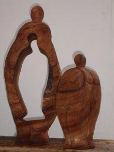 """""""Persona, Chila Trujillo, talla en madera, Villa de Leyva"""