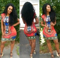 Women Traditional African Print Dashiki Dress Short Sleeve Party Shirt Plus Size African Inspired Fashion, African Men Fashion, African Beauty, African Women, Ghana Fashion, African Attire, African Wear, African Dress, African Style