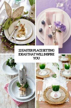 22 Easter Place Setting Ideas That Will Inspire You - Shelterness Pink Plates, Green Plates, Paper Plates, Place Settings, Table Settings, Wooden Platters, Egg Card, Speckled Eggs, Easter Celebration