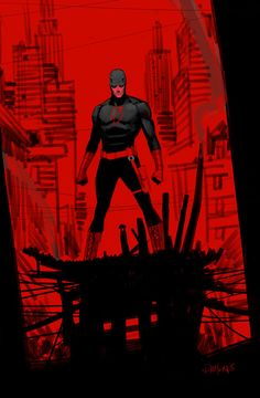 HeroChan — Daredevil Created by Dan Mora Marvel Comics, Marvel Comic Universe, Marvel Comic Books, Comics Universe, Comic Book Characters, Marvel Art, Marvel Heroes, Comic Character, Comic Books Art