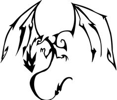 dragon tribal design by birdy767 on deviantART although I would probably change the head