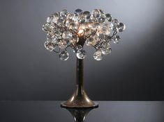 Crystal Table lamps  Natural transparent bubbles by Flowersinlight, $149.00
