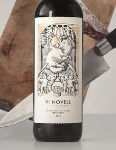 Vi Novell - wine packaging design by Atipus