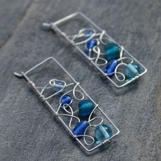 wire work- these would make great earrings & linked together for a bracelet