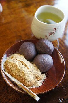 Awa (Millet) Mochi | Kyoto, Japan 粟餅