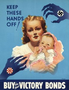 z- They Menace Canada on Both Coasts- Keep These Hands Off- Buy Bonds (Prop- Canada- WWII)