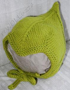 Pixie style bonnet  - drops pattern, I LOVE the green!
