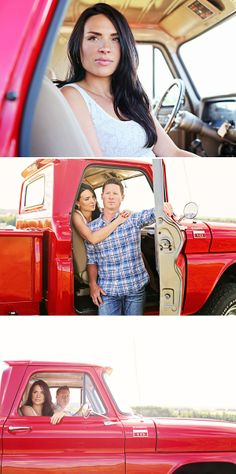 Red Truck in a Field Engagement in Canada ~ UK Wedding Blog ~ Whimsical Wonderland Weddings