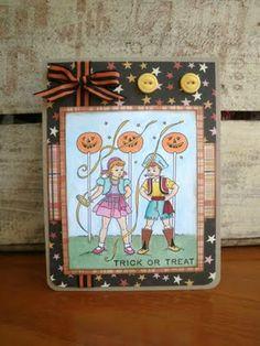 Halloween costume party digi stamp