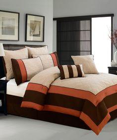 Beige Aspen Hotel Queen Comforter Set on zulily today!
