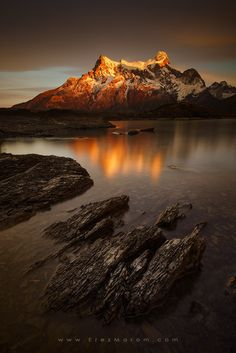 """Mount Golden - Morning sun lit up Mount Paine Grande, in Torres Del Paine National Park. If you'd like to experience and shoot these amazing locations, check out my  '<a href=""""http://www.erezmarom.com/index.php/photography-workshops/view/giants-of-the-andes-patagonia-photo-workshop"""">Giants of the Andes</a>' Patagonia photo workshop and  <a href=""""http://www.erezmarom.com/index.php/photography-workshops/view/giants-of-the-andes-patagonia-workshop-fitz-roy-annex"""">Fitz Roy Annex</a> next year…"""