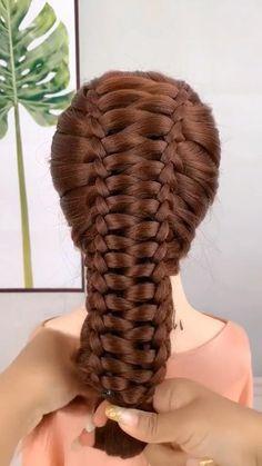 Girl Hairstyles, Braided Hairstyles, Hair Style Vedio, Hairdo For Long Hair, Permanent Hair Dye, Front Hair Styles, Hair Videos, Hair Hacks, Dyed Hair