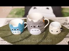 [かぎ編み]トトロのカップホルダー[100均]totoro Crochet - YouTube