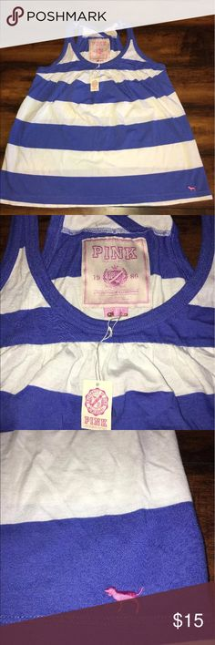 Victoria's Secret PINK Tank Size Small NWT Absolutely adorable racer back tank. Brand-new. Excellent price for an expensive brand. Bundle for an even better deal. PINK Victoria's Secret Tops Tank Tops
