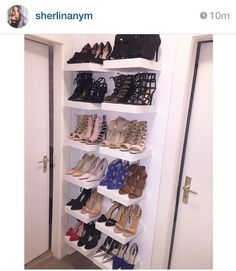 efficient and cool way to store your sneakers shrine rack for the cabin pinterest organizing and cabin