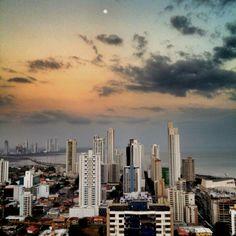 Sunday sunset at Panama