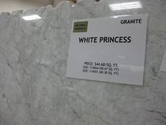 White Princess Granite (actually Quartzite) gives a similar look to Marble!