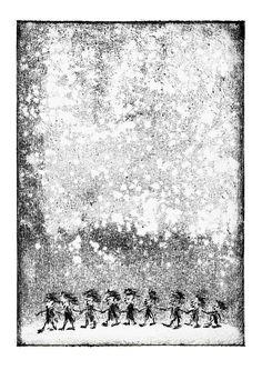 created by Konik Art Studio P.Kleszczewski konikstudio.jimdo.com  #etsy #konikartstudio #artprint #blackandwhiteprints #folklore #fairytales #printmaking #print #graphicartist #mythology #craft Black And White Prints, Folklore, Printmaking, Mythology, Fairy Tales, Tapestry, Art Prints, Studio, Create