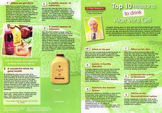 Top Ten Reasons to Drink Aloe Vera Gel.