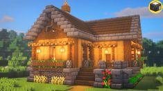 Minecraft Cabin, Villa Minecraft, Minecraft House Plans, Minecraft Mansion, Minecraft Houses Survival, Easy Minecraft Houses, Minecraft House Tutorials, Minecraft Houses Blueprints, Minecraft Room