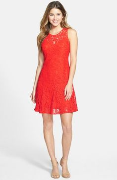 MICHAEL Michael Kors Lace Fit & Flare Dress (Regular & Petite) available at #Nordstrom