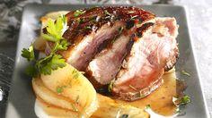 Magret de canard au miel et aux poires _ http://www.cuisineaz.com/dossiers/cuisine/plats-viandes-noel-14274.aspx