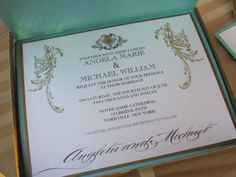 Boxed Luxury Wedding Invitation  Marie Antoinette by anistadesigns, $15.00  more pictures on the website