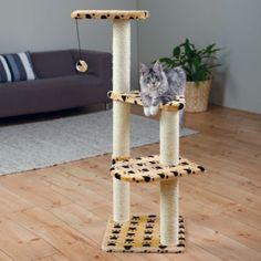 Poste-Rascador-Altea-117-cm-Beige-Huellas-para-gato