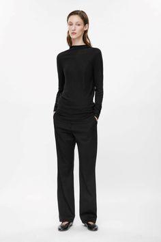 COS | Raised-neck cotton top
