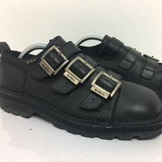 072a5ee4ca Kickers Shoes | Kickers Black Leather 3 Buckel Triple Strap Boots | Color:  Black