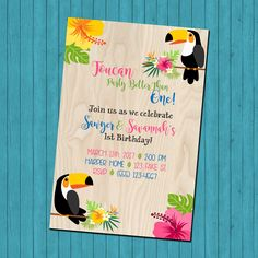 SALE 25% OFF Custom Toucan Party Better Thank One - Twin Birthday Party - Double Birthday Party - Dual Birthday by MillieMaeDesigns2012 on Etsy https://www.etsy.com/listing/495150182/sale-25-off-custom-toucan-party-better