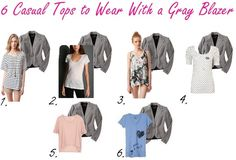 gray blazer outfit | Wear and Other Outfit Ideas - Q's and Fashion Advice on What to Wear ...