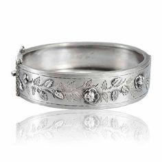 Aesthetic Movement Victorian Sterling Silver Bracelet Bangle