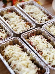 """Veggie Lasagna Rollups (Filling Edna Mae's Freezer) - """"The Pioneer Woman"""", Ree Drummond on the Food Network. Make Ahead Freezer Meals, Freezer Cooking, Pioneer Woman Freezer Meals, Freezer Dinner, Bulk Cooking, Frugal Meals, Veggie Freezer Meals, Pioneer Woman Lasagna, Individual Freezer Meals"""