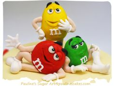 This cheerful M&M's themed cake was lovingly created for my beloved son Ethan's birthday in October His absolute favorite candy is M&. Anti Gravity Cake, M&m Characters, 18th Cake, M M Candy, Fondant Animals, Fondant Decorations, Character Cakes, Fondant Toppers, Fondant Figures