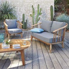 Tuinzetel in acacia FSC, Julma Outdoor Seating, Outdoor Sofa, Outdoor Living, Outdoor Decor, Outdoor Ideas, Acacia, Garden Furniture, Outdoor Furniture Sets, New Home Designs
