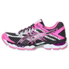 Made to be seen - reflective and cute. Asics GEL-Cumulus 15 Lite Show Women's Running Shoes Womens | Run.com | BLK-PNK