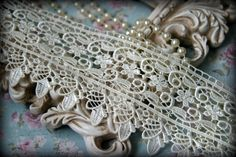 White Lace Fabric Trim, Lace Fabric, Guipure Lace, Venice Lace, Bridal Lace, Costume Design, Lace Applique, Crafting Lace, 3.5 BN-012  Width: 3.5 inches  Material: Measures 5.25 inches wide. Listing is for ONE yard .... additional quantities will be shipped as continuous and uncut yards...  This beautiful lace will add a stunning touch to any of your needs be it Lingerie, Gowns, Dresses, Dolls, Bridal veils, Altered art, Couture, Jewelry, Pillowcases, Home Decor, Scrap-booking and any…